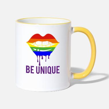 Be unique! Lips in rainbow color CSD - Two-Tone Mug
