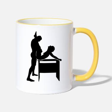 Sex sex position - Two-Tone Mug