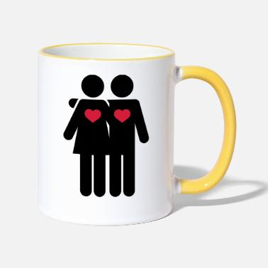 Lovers - Two-Tone Mug