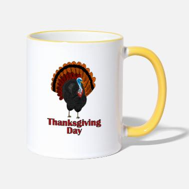 Day dinde de Thanksgiving - Mug bicolore