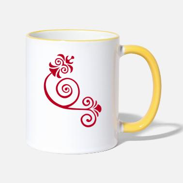 Floral floral - Two-Tone Mug