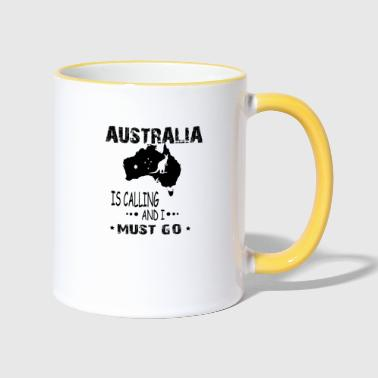 Australie is calling and i must go - Tasse zweifarbig