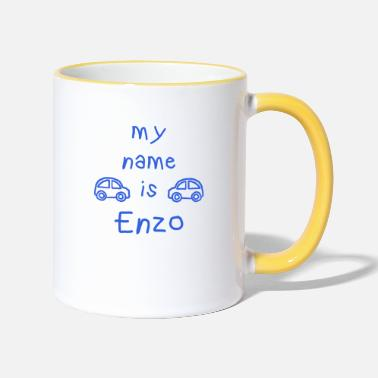 Prénom ENZO MY NAME IS - Mug bicolore