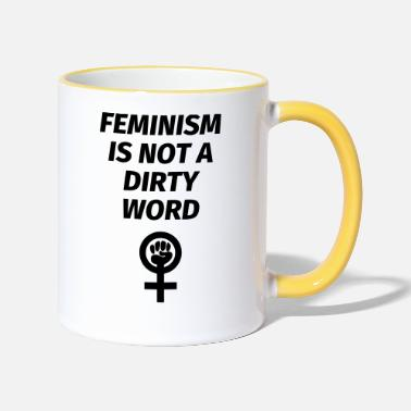 Dirty Word Feminism is not a dirty word - Two-Tone Mug