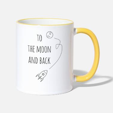 Back To the moon and back / gift idea - Two-Tone Mug