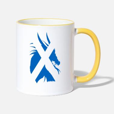 Scotland Scotland Dragon Flag - Two-Tone Mug