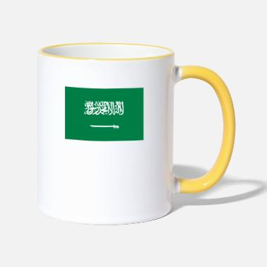 King Salman National Flag Of Saudi Arabia - Two-Tone Mug