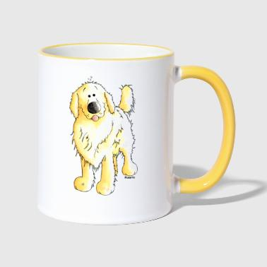Grappig Golden Retriever - Mok tweekleurig