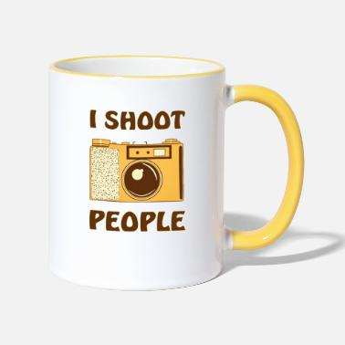 Camera Camera I SHOOT PEOPLE - Two-Tone Mug