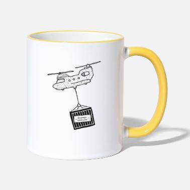 Schnapps helicopter - Two-Tone Mug
