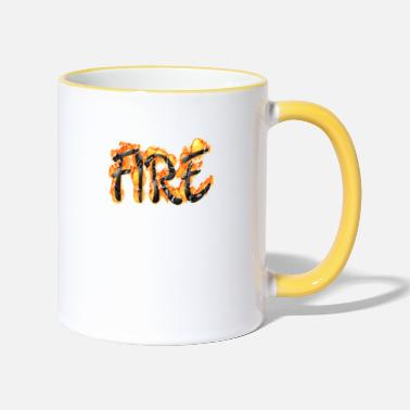Fire Fighter fire - Two-Tone Mug