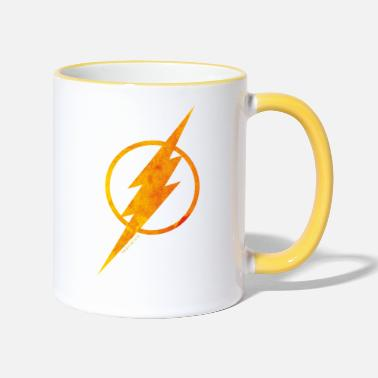 Logo Justice League Flash Logo Tasse - Tasse zweifarbig
