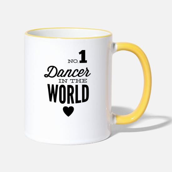 6a569e4aaf1 Ballet Mugs & Drinkware - Best dancer of the world - Two-Tone Mug white.  Personalise