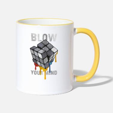 Anns Selection Rubik's Cube Blow Your Mind - Two-Tone Mug