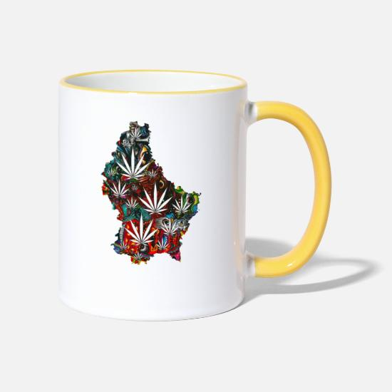 Love Mugs & Drinkware - freedom - Two-Tone Mug white/yellow