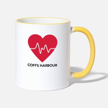 Harbour Heart Coffs Harbour - Two-Tone Mug