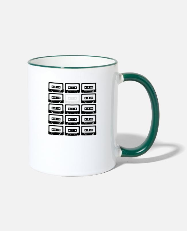 Miscellaneous Mugs & Drinkware - tapes - big bang theory - Two-Tone Mug white/dark green