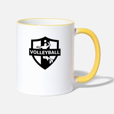 Boll volleyball - Tazza bicolor