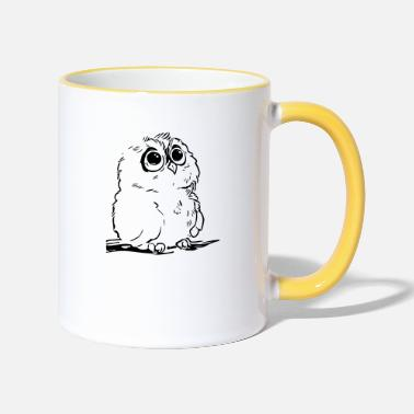 Cute Cute owl - Two-Tone Mug