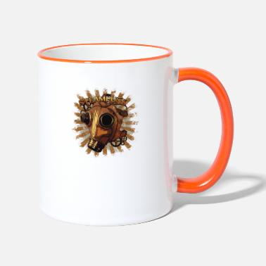 Steampunk mask - Two-Tone Mug