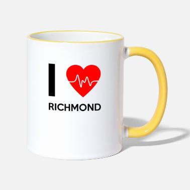 Richmond Amo Richmond - Me encanta Richmond - Taza de dos colores