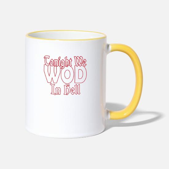 Wod Mugs & Drinkware - WOD in Hell - Two-Tone Mug white/yellow