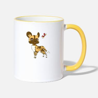 Wild Chibi wild dog - Two-Tone Mug