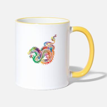 Tribal Dragon Dragon - Tribal - Tazza bicolor