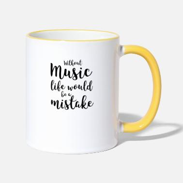Music No music life mistake - Mug bicolore