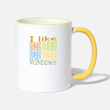 Windows J'aime de Windows - Mug bicolore
