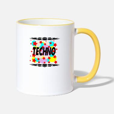 Techno techno - Two-Tone Mug