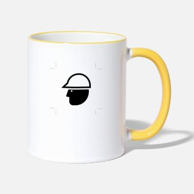Winding Staircase construction worker - Two-Tone Mug