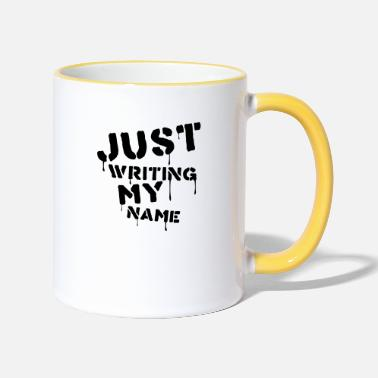 Writing Just writing my name - Mug bicolore