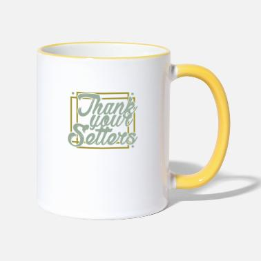 Volleyball Setter Volleyball Logo Club Club Setters Setter Ball - Two-Tone Mug