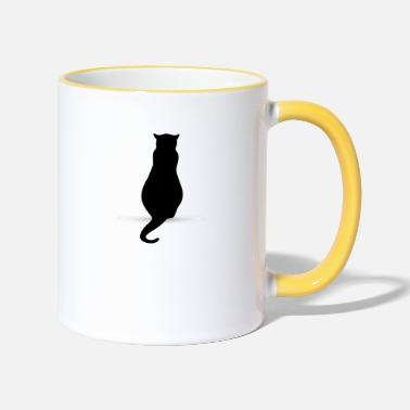 Silhouette Cat silhouette silhouettes - Two-Tone Mug
