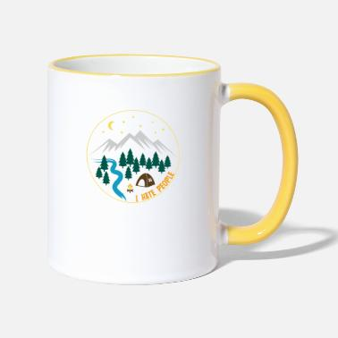Hate I hate people I love nature camping nature - Two-Tone Mug