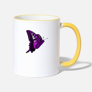 Beautiful Beautiful butterfly - great color - top gift - Two-Tone Mug