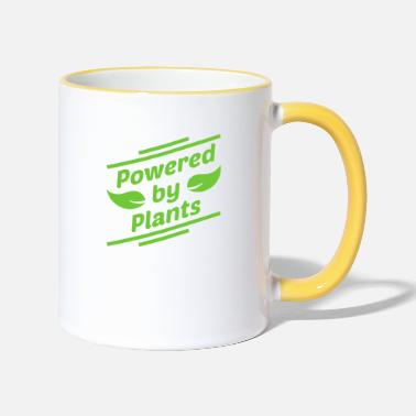 Powered By Plants - Tasse zweifarbig
