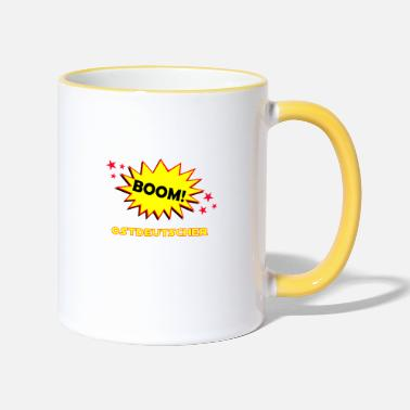 Boom East German saying gift - Two-Tone Mug