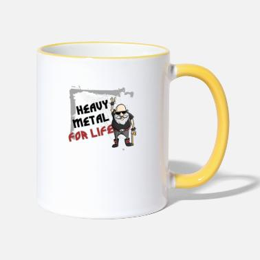 Heavy Heavy Metal for Life - Tasse zweifarbig