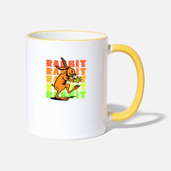 Gift Idea Mugs & Drinkware - bunny - Two-Tone Mug white/yellow
