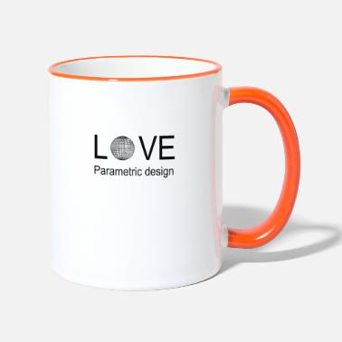 Parametric love parametric design - Two-Tone Mug