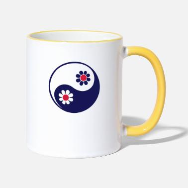 Taoist YING YANG, 2c, Taoist symbol, symbol of perfect - Two-Tone Mug