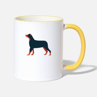 Dog Motif Dog dogs motif - Two-Tone Mug