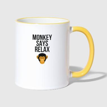 Banana Monkey dice Relax - Tazze bicolor