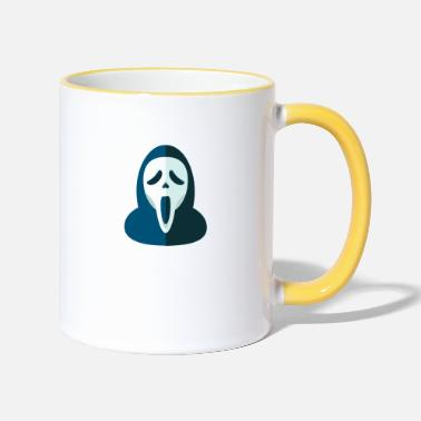 Screamm Mask screem scream mask - Two-Tone Mug