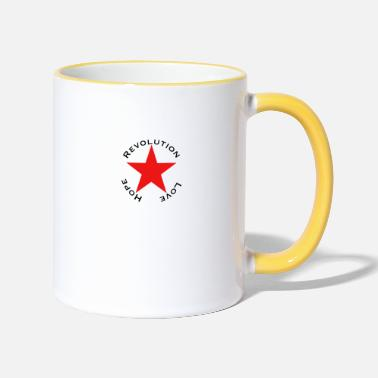 Anti Love Hope Revolution - Tasse zweifarbig