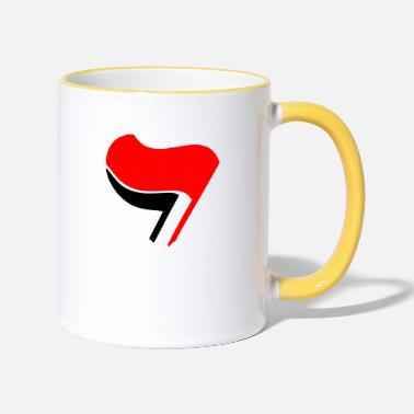 Antifa ANTIFA flag antifascismo - Tazze bicolor