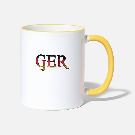 Flag Of Germany Mugs & Drinkware - Germany Germany GER - Two-Tone Mug white/yellow