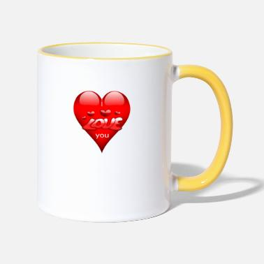 love you - Tasse zweifarbig